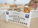 On My Way to See a Wizard Building a World Record Sandcastle On Point Pleasant Beach by Calvin Schwartz.  October 6, 2013