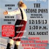 HOLIDAY HAPPENINGS FOR A CAUSE: 8th Annual Holiday Party at Stone Party Sunday December 15th  1:30PM   By Calvin Schwartz