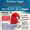 HOLIDAY COMING ATTRACTIONS: 9th Annual Beach Music Studios Holiday Concert Party to collect toys for Manna House & Belmar kids. Sunday Dec. 14th Stone Pony