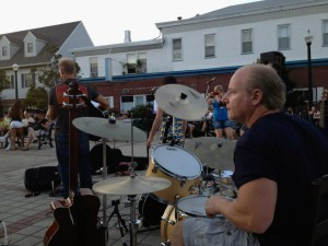 Versatile Mike playing Jersey drums in Belmar, the place I love most on Earth