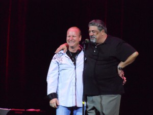 Mike and Vincent Pastore at Asbury Comedy Festival Aug  2012