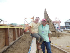 me and Ed Jarrett at foundation of sandcastle 3 weeks or so ago.