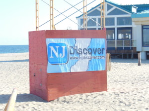 NJ Discover streamed the entire sandcastle construction process 24/4  and filmed the complete ceremony. check website to view an emotional uplifting towering day.