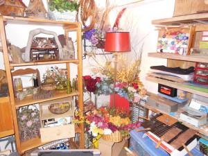 a corner of her studio
