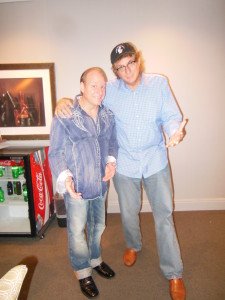 with Mike Marino in a green room