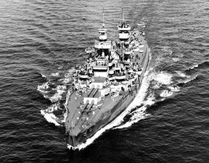 USS Arkansas circa 1944