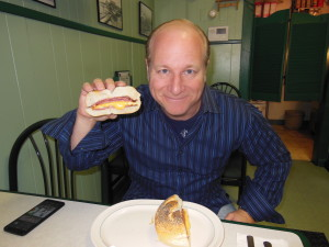 Mike and one his favorite sandwiches.