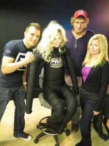 on the NJ Discover set for interview with Cosmo, his trainer Rhonda, Calvin Schwartz & Tara-Jean Vitale