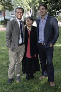 Glenn Holsten, Daniel Traub, cinematographer, & barefoot artist, Lily yeh