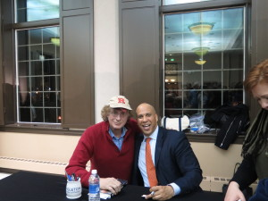 Recently with Senator Cory Booker after Eagleton lecture.