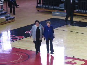 Justice Sotomayor & Ruth Mandel entering the RAC