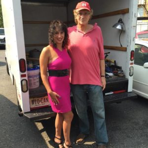 with public relations & the Lady in Red blogger Laura Madsen on the set of 'Who's Jenna....?' last summer.