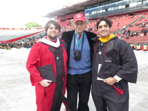 with graduating students Mike and Ian -sax players in the pep band.
