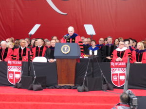 Rutgers President Barchi introducing President Obama