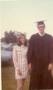 my Rutgers graduation day 47 years with my sister Hildy
