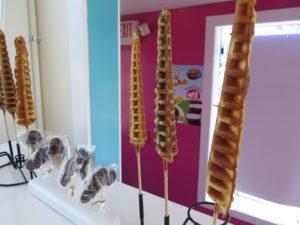 iconic waffles on a stick