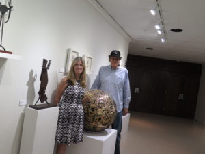 with Monmouth University & Pollak Gallery's Eileen Chapman