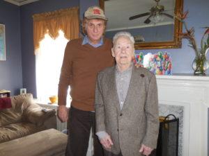 With US Navy WWII Vet William Zimmerman