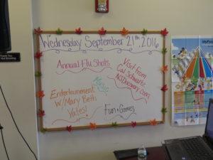Their bulletin board schedule