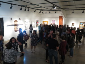 Opening night reception at Monmouth Museum of Neo Latino: Critical Mass