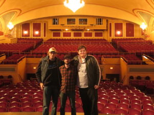 with Chris Everett, Jesse Warren in a splendid empty Strand Theater